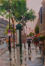Spring Rain Paris-SOLD