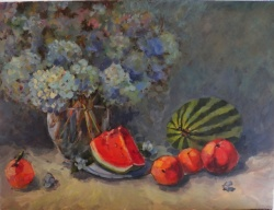 Summer Flowers and Fruit *SOLD*